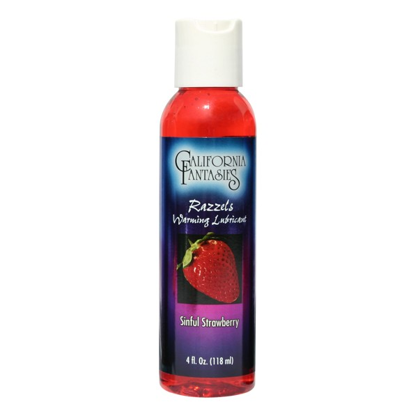 Razzels Warming Lubricant Sinful Strawberry 4 fl oz