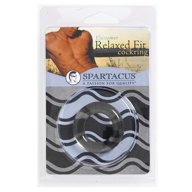 Relaxed Fit Elastomer Cock Ring (Black)