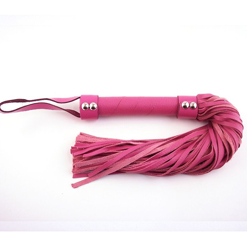Rouge H-Style Leather Flogger Pink