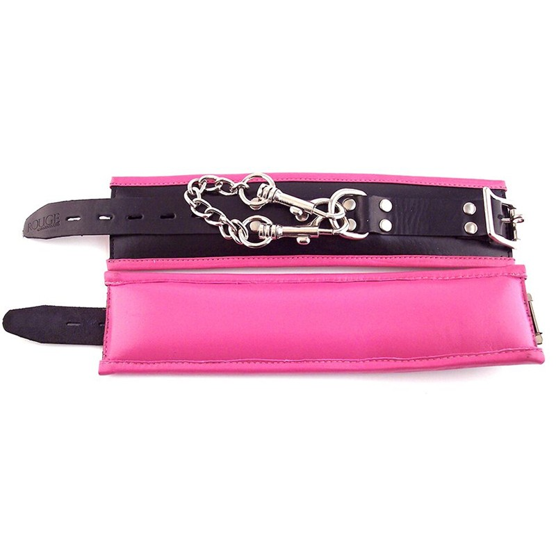 Rouge Padded Wrist Cuffs Black / Pink