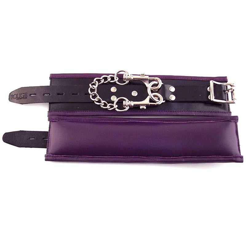 Rouge Padded Wrist Cuffs Black / Purple