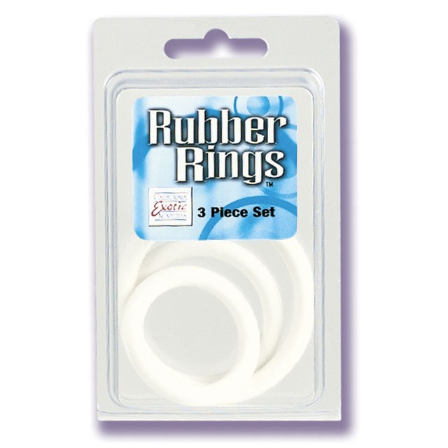 Rubber Ring™ - White 3 Piece Set