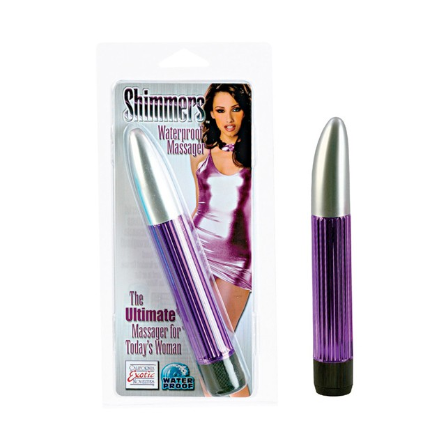Shimmers Waterproof Massager - Purple 6.5in