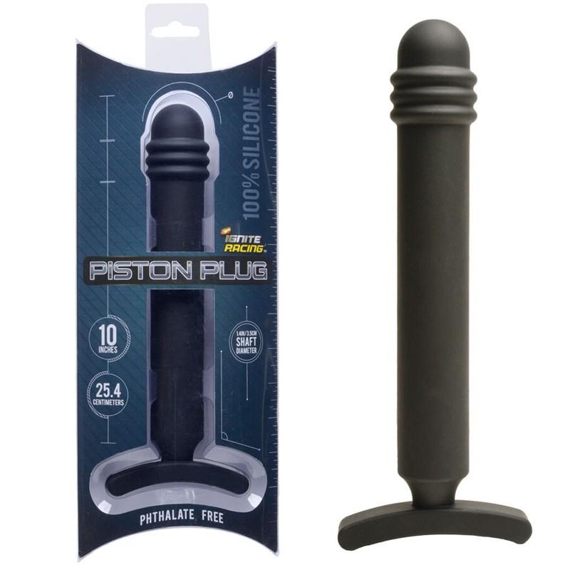 SI Ignite Piston Plug 10in Silicone Black