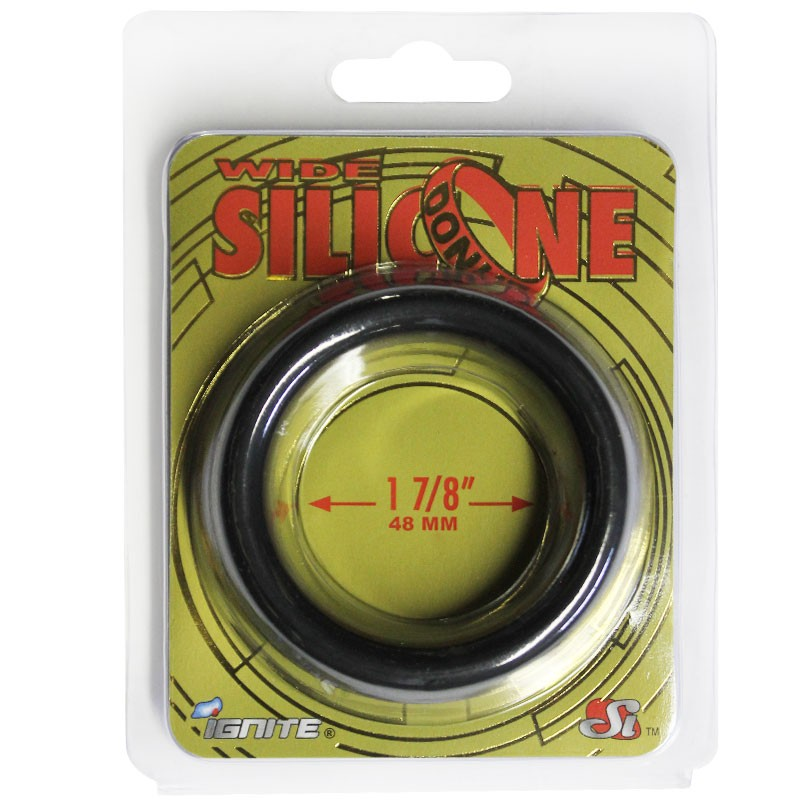 SI Wide Silicone Donut Black (1.88 In/48Mm)