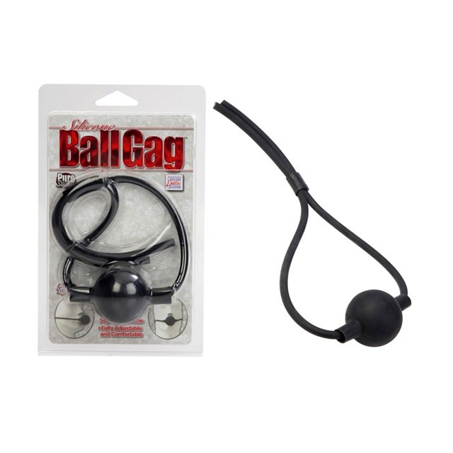 Silicone Ball Gag - Black