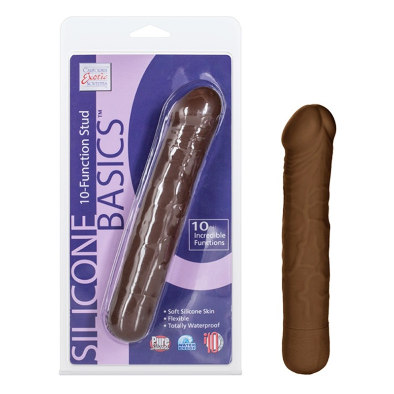 Silicone Basics 10-Function Stud - Brown