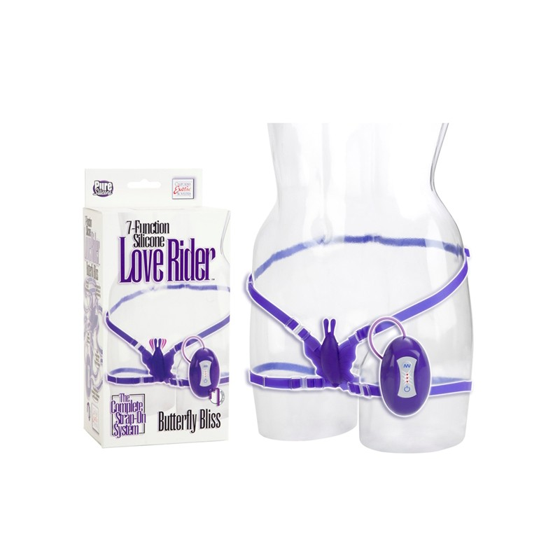 Silicone Love Rider Butterfly Bliss - Purple 7-Function
