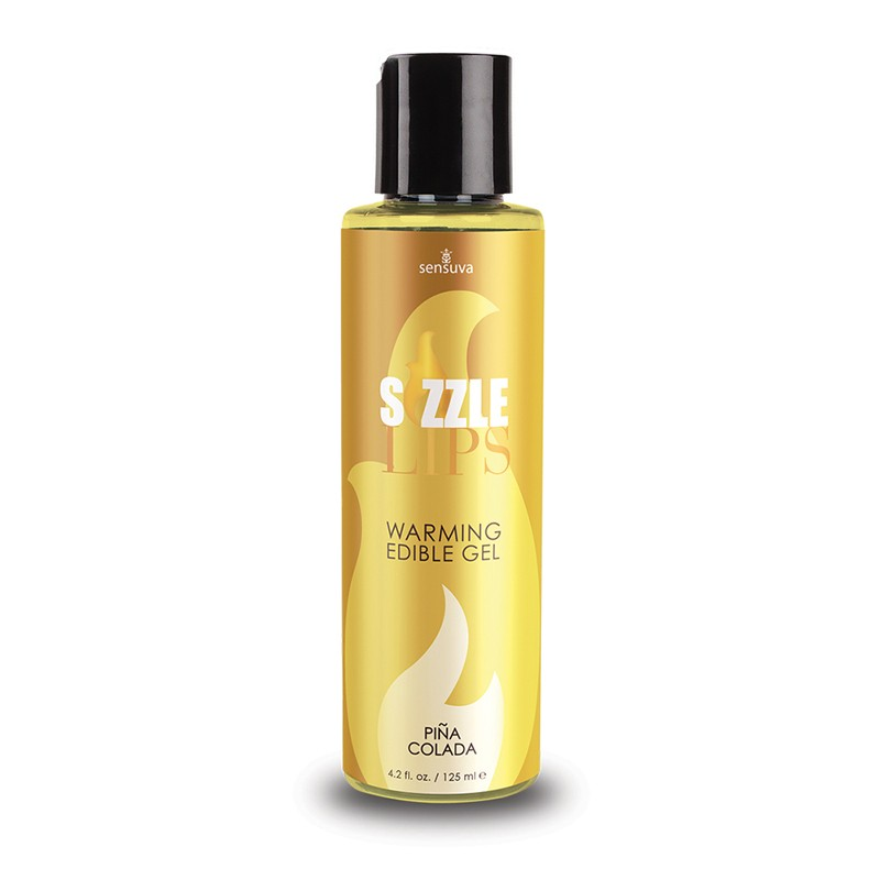 Sizzle Lips Piña Colada Warming Gel 4.2oz Bottle