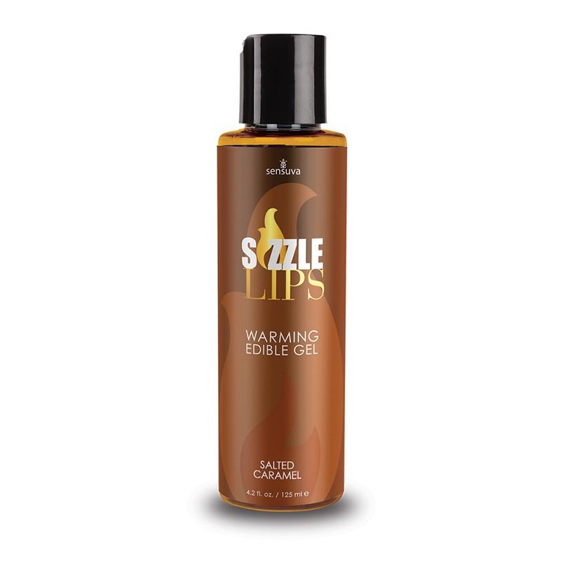 Sizzle Lips Salted Caramel Warming Gel 4.2oz Bottle