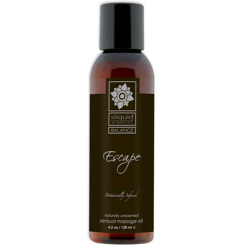 Sliquid Organics Balance Massage Oil Escape (Unscented) 4.2oz