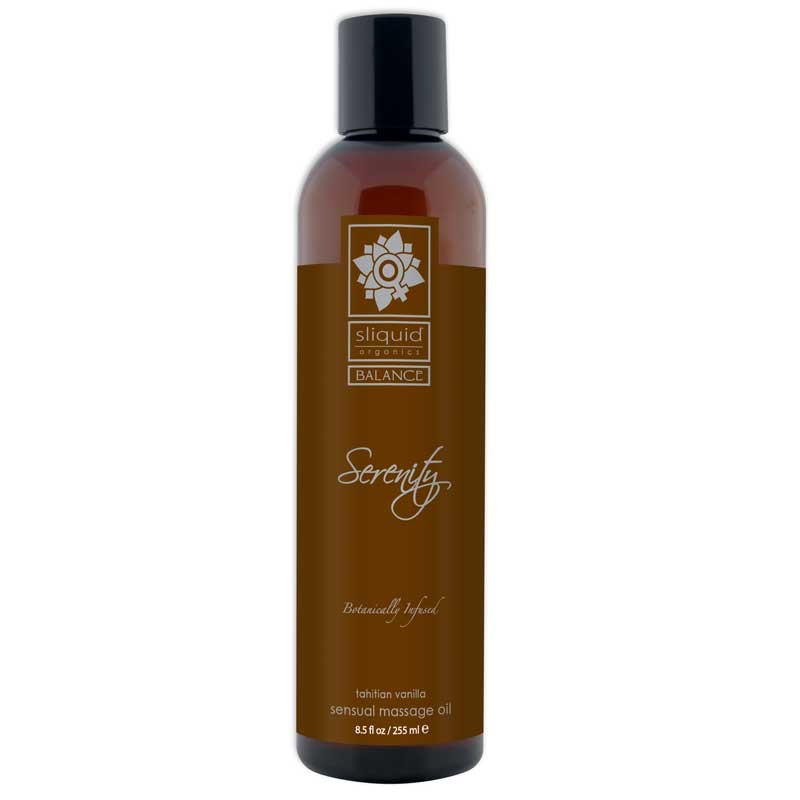 Sliquid Organics Balance Massage Oil Seduction (French Vanilla) 4.2oz