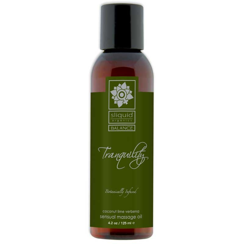 Sliquid Organics Balance Massage Oil Tranquility (Coconut Lime) 4.2oz