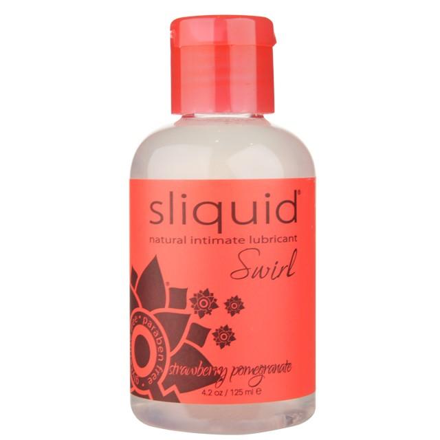 Sliquid Swirl Strawberry Pomegranate Flavored Lubricant 4.2oz