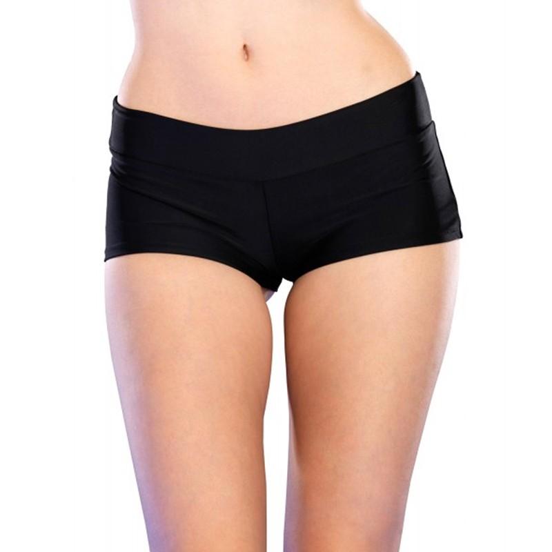 Spandex Boy Shorts Short. Medium Black