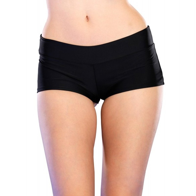 Spandex Boy Shorts Short. Small Black