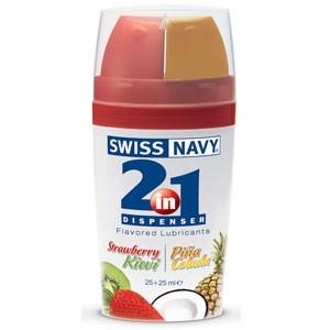 Swiss Navy 2IN1 Flavor (Strawberry Kiwi/Pina Colada)