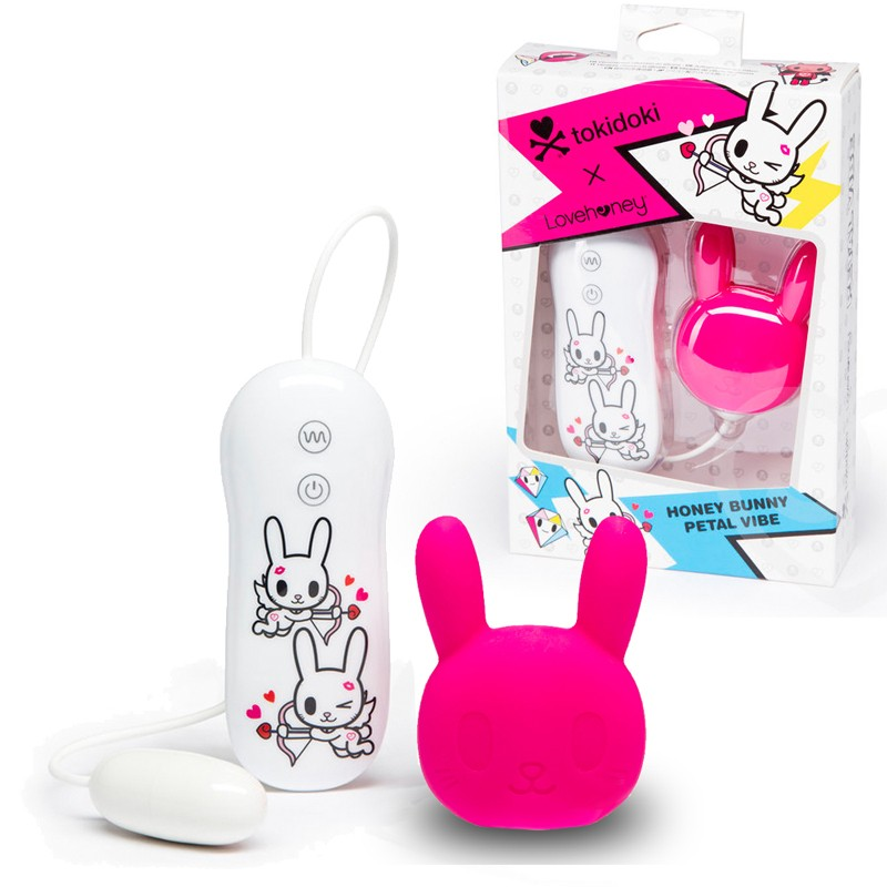 Tokidoki Pink Bunny Clitora Silicone 3 Speed 4 Fuction