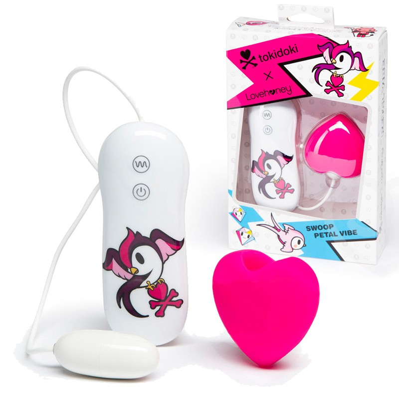 Tokidoki Pink Heart Clitoral Vibe Silicone 3 Speed 4 Fuction