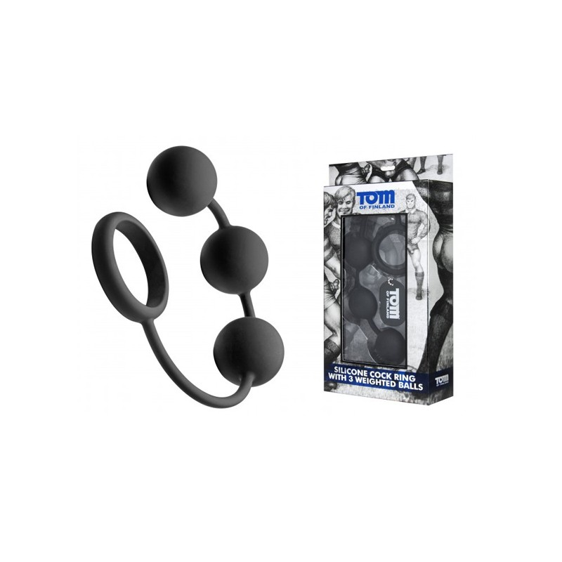 Tom of Finland Weighted 3 Silicone Anal Balls