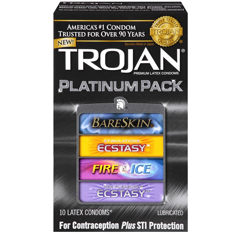 Trojan Platinum Pack Assorted Condoms (10 pack)
