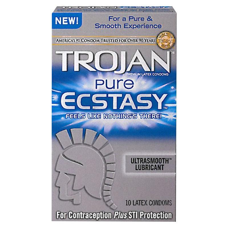 Trojan Pure Ecstasy Latex Condoms (10 pack)