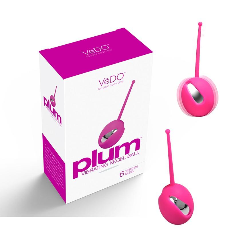 VeDO Plum Vibrating Kegel Ball Hot In Bed Pink