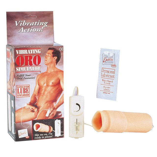 Vibrating Oro Simulator Penis Sleeve