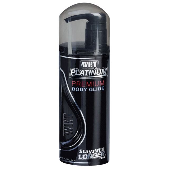 Wet Platinum Silicone Lubricant 16.4 fl.oz/490ml (Pump)
