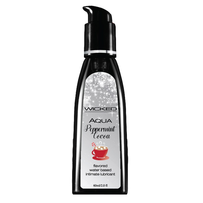 Wicked Aqua Peppermint Cocoa Flavored Lubricant 2oz