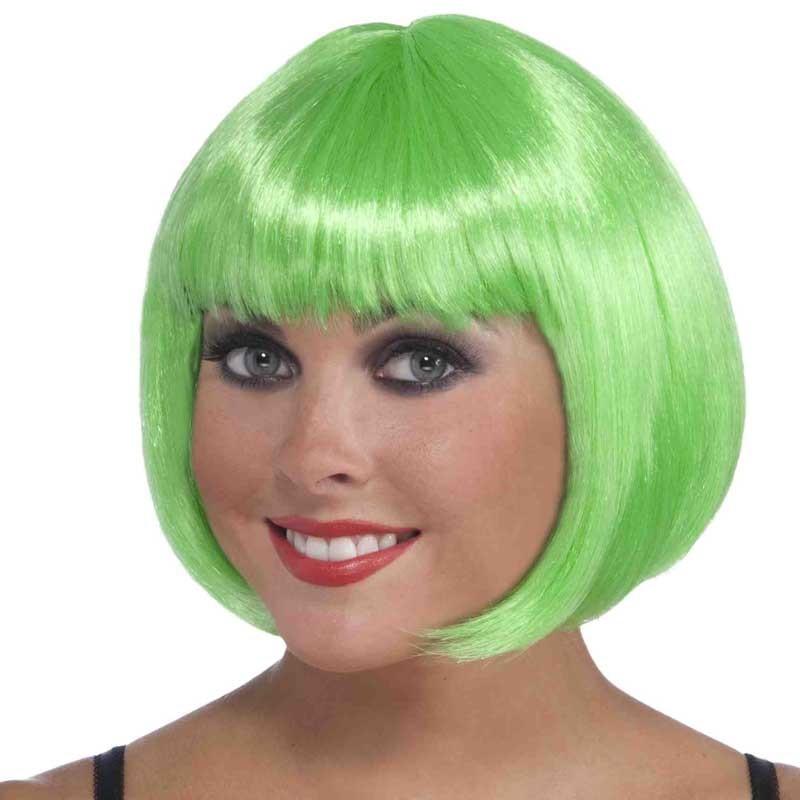 Wig Bob Neon Green