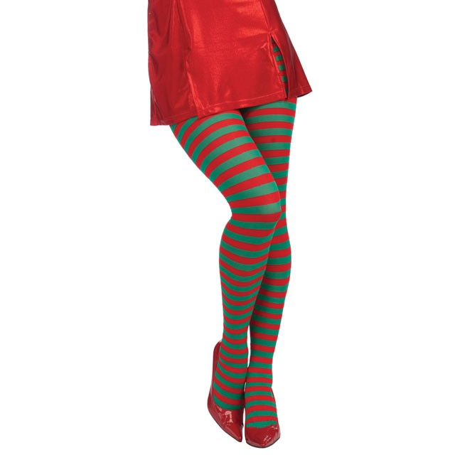 Xmas Red/Green Striped Tights