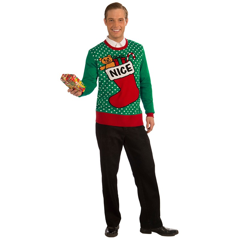 Xmas Sweater Nice Stocking XL