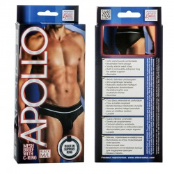 Apollo Mesh Brief with C-Ring - Black M/L