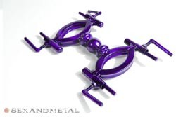 The trans-purple Sphere Handcuffs - thumbnail. Bondage gear by Sexandmetal.com
