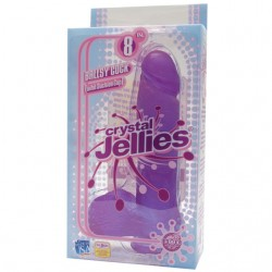 Crystal Jellies - Ballsy Cock With Suction Cup Purple 8in