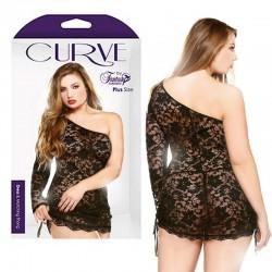 Curve Dress & Matching Thong Black 3X/4X
