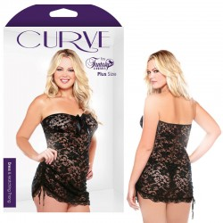 Curve Lace Strapless Dress & Matching Thong 3X/4X