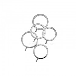 Electro Solid Metal Cock Ring Set of 5 ( 1ea-36mm,38mm,40mm,42mm,44mm)