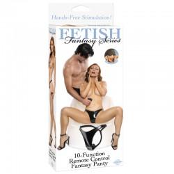 Fetish Fantasy 10 Function Remote Control Fantasy Panty Black