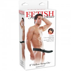 Fetish Fantasy 8in Hollow Strap-On Black