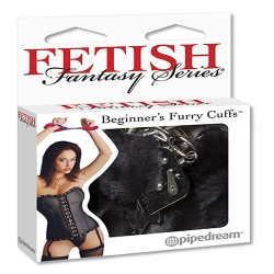 Fetish Fantasy Beginners Furry Cuffs Black