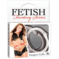 Fetish Fantasy Designer Metal Handcuffs Silver