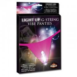 Light Up G-String W/Bullet MS - Hot Pink