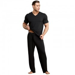 Male Power Bamboo Tee Shirt Black XL