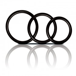 Manbound Rubber Cock Ring 3-Pack