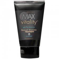 MAX Vitality Performance Sexual Stamina Treatment, Unscented, 2 fl oz Tube