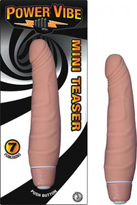 Power Vibe Mini Teaser Silicone, Waterproof, 7 Functions Flesh