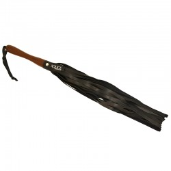 Rouge Flogger w/Wooden Handle Black