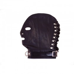 Rouge Mask with D-Ring and Lockable Buckle Strap Black